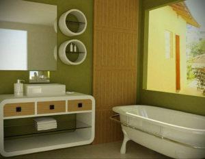 интерьеры зеленой ванны 06.10.2019 №006 -green in the interior- design-foto.ru