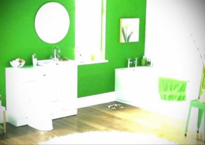 интерьеры зеленой ванны 06.10.2019 №011 -green in the interior- design-foto.ru