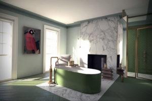 интерьеры зеленой ванны 06.10.2019 №013 -green in the interior- design-foto.ru