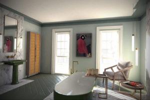 интерьеры зеленой ванны 06.10.2019 №021 -green in the interior- design-foto.ru