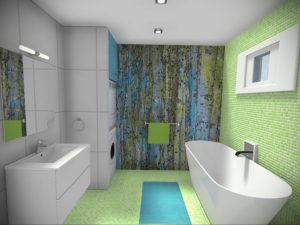 интерьеры зеленой ванны 06.10.2019 №026 -green in the interior- design-foto.ru