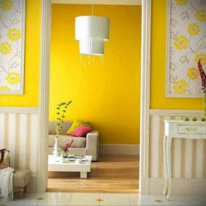 обои желтого цвета в интерьере 09.10.2019 №002 -yellow in interior- design-foto.ru