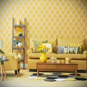 обои желтого цвета в интерьере 09.10.2019 №004 -yellow in interior- design-foto.ru