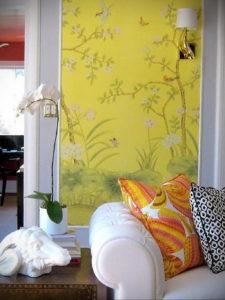 обои желтого цвета в интерьере 09.10.2019 №009 -yellow in interior- design-foto.ru