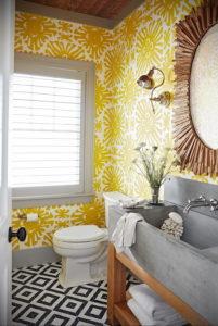 обои желтого цвета в интерьере 09.10.2019 №010 -yellow in interior- design-foto.ru