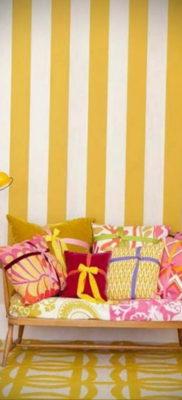 обои желтого цвета в интерьере 09.10.2019 №012 -yellow in interior- design-foto.ru