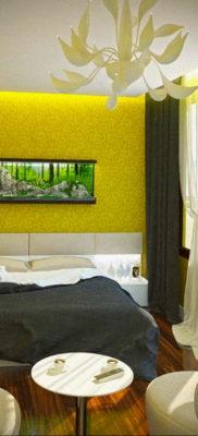 обои желтого цвета в интерьере 09.10.2019 №015 -yellow in interior- design-foto.ru