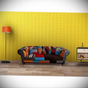 обои желтого цвета в интерьере 09.10.2019 №018 -yellow in interior- design-foto.ru