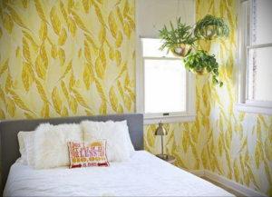 обои желтого цвета в интерьере 09.10.2019 №020 -yellow in interior- design-foto.ru