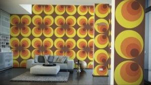 обои желтого цвета в интерьере 09.10.2019 №021 -yellow in interior- design-foto.ru