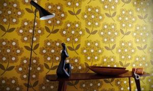 обои желтого цвета в интерьере 09.10.2019 №023 -yellow in interior- design-foto.ru