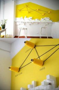 обои желтого цвета в интерьере 09.10.2019 №026 -yellow in interior- design-foto.ru