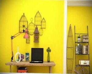 обои желтого цвета в интерьере 09.10.2019 №028 -yellow in interior- design-foto.ru