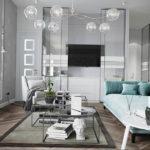 серый цвет в интерьере гостиной 24.09.2019 №001 -gray interior- design-foto.ru