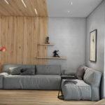 серый цвет в интерьере гостиной 24.09.2019 №005 -gray interior- design-foto.ru
