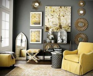 серый цвет в интерьере гостиной 24.09.2019 №008 -gray interior- design-foto.ru