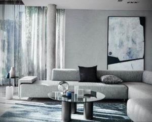 серый цвет в интерьере гостиной 24.09.2019 №016 -gray interior- design-foto.ru