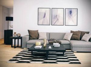 серый цвет в интерьере гостиной 24.09.2019 №017 -gray interior- design-foto.ru