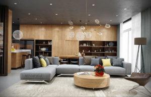 серый цвет в интерьере гостиной 24.09.2019 №032 -gray interior- design-foto.ru