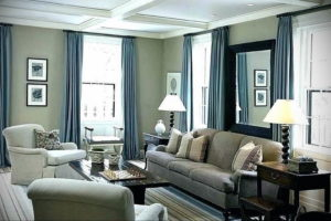 серый цвет в интерьере гостиной 24.09.2019 №038 -gray interior- design-foto.ru