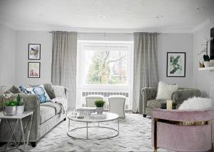 серый цвет в интерьере гостиной 24.09.2019 №042 -gray interior- design-foto.ru