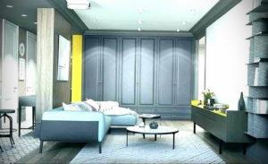 серый цвет в интерьере гостиной 24.09.2019 №044 -gray interior- design-foto.ru