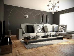 серый цвет в интерьере гостиной 24.09.2019 №046 -gray interior- design-foto.ru