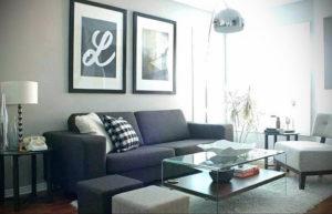 серый цвет в интерьере гостиной 24.09.2019 №054 -gray interior- design-foto.ru