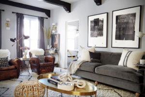 серый цвет в интерьере гостиной 24.09.2019 №055 -gray interior- design-foto.ru