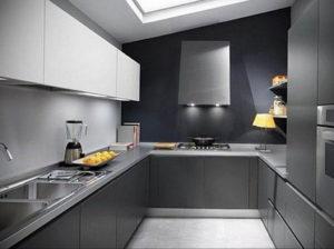 серый цвет в интерьере кухни 24.09.2019 №001 -gray interior- design-foto.ru