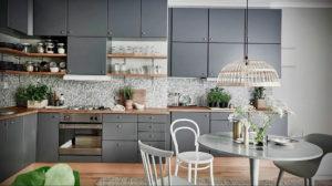 серый цвет в интерьере кухни 24.09.2019 №002 -gray interior- design-foto.ru