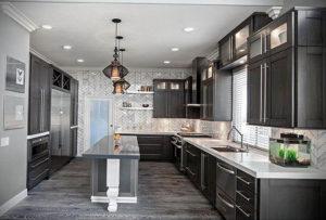 серый цвет в интерьере кухни 24.09.2019 №003 -gray interior- design-foto.ru