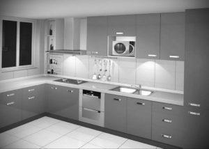 серый цвет в интерьере кухни 24.09.2019 №004 -gray interior- design-foto.ru