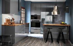 серый цвет в интерьере кухни 24.09.2019 №006 -gray interior- design-foto.ru