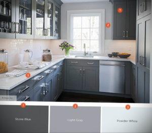 серый цвет в интерьере кухни 24.09.2019 №011 -gray interior- design-foto.ru