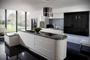 серый цвет в интерьере кухни 24.09.2019 №012 -gray interior- design-foto.ru