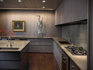 серый цвет в интерьере кухни 24.09.2019 №016 -gray interior- design-foto.ru