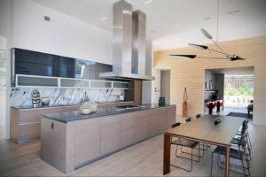 серый цвет в интерьере кухни 24.09.2019 №018 -gray interior- design-foto.ru