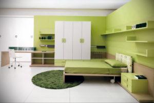 сочетание зеленого в интерьере 06.10.2019 №003 -green in the interior- design-foto.ru