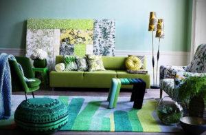 сочетание зеленого в интерьере 06.10.2019 №005 -green in the interior- design-foto.ru