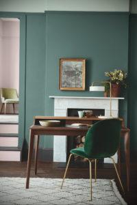сочетание зеленого в интерьере 06.10.2019 №008 -green in the interior- design-foto.ru