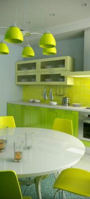 сочетание зеленого в интерьере 06.10.2019 №011 -green in the interior- design-foto.ru