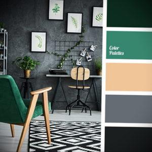 сочетание зеленого в интерьере 06.10.2019 №013 -green in the interior- design-foto.ru