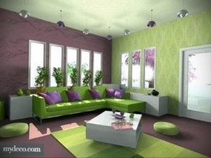 сочетание зеленого в интерьере 06.10.2019 №016 -green in the interior- design-foto.ru