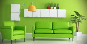 сочетание зеленого в интерьере 06.10.2019 №018 -green in the interior- design-foto.ru