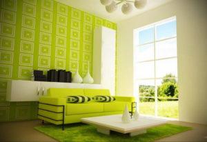 сочетание зеленого в интерьере 06.10.2019 №021 -green in the interior- design-foto.ru