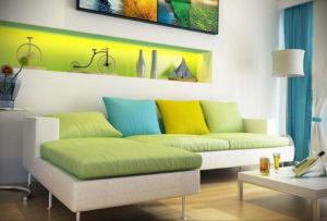 сочетание зеленого в интерьере 06.10.2019 №026 -green in the interior- design-foto.ru