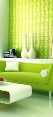 фото пример зеленого в интерьере 06.10.2019 №002 -green in the interior- design-foto.ru