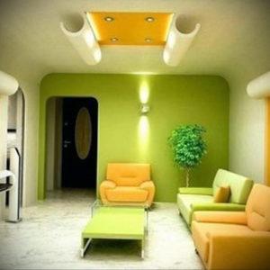 фото пример зеленого в интерьере 06.10.2019 №003 -green in the interior- design-foto.ru