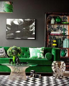 фото пример зеленого в интерьере 06.10.2019 №018 -green in the interior- design-foto.ru